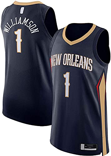 jiaju Ropa Ropa De Zion Williamson Al Aire Libre Nuevo Baloncesto Jersey Orleans Sports Pelicans # 1 Jersey Jersey Navy- Icon Edition-M (Color : Navy-, Size : S)