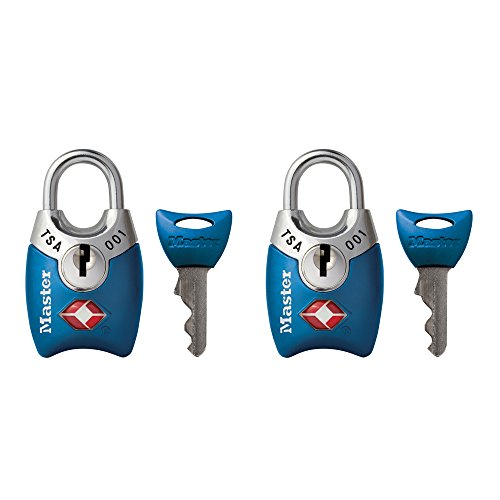 Master Lock 4689T TSA Approved Keyed Lock, 2 Pack, Assorted Colors