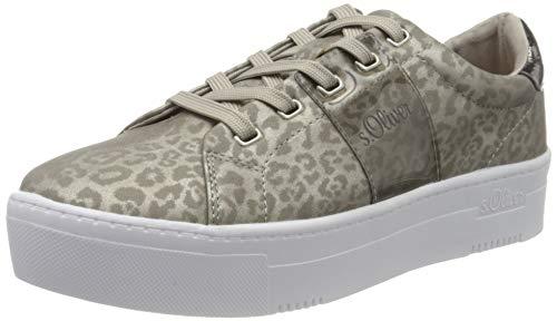 s.Oliver Damen 5-5-23628-24 Sneaker, Braun (Leopard Comb 347), 41