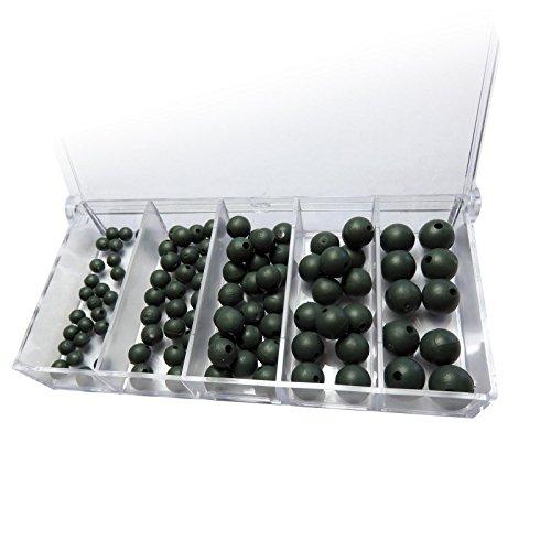 100 Premium Gummiperlen sortiert Rubber beads