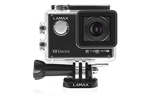 LAMAX X8 Electra Action Cam FULL HD 1080p bis 4K Sports Camera WIFI 12MP 170 Grad mit Display und allen Extras inklusive
