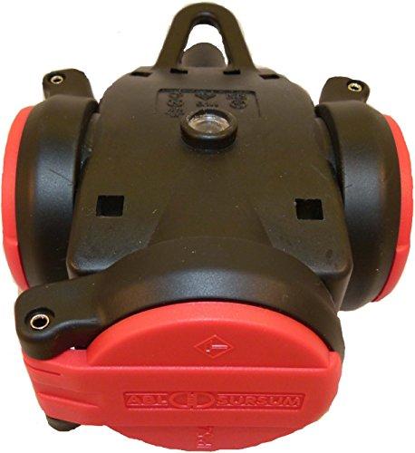 ABL SURSUM 1173543 Kupplung VG 3-Fach,IP44,sw/rt250V, mit selbstschl. Klappd, Schwarz, Rot
