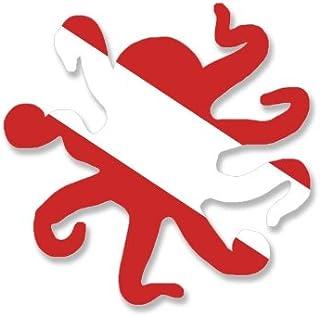 ملصق علم الغوص على شكل الأخطبوط (ملصق غواص الغوص)