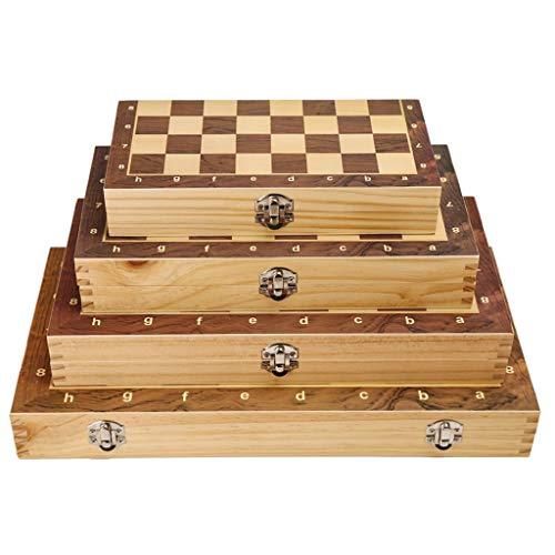 COTEN Ajedrez Internacional Tablero de ajedrez Plegable de Madera Plegable Juego de ajedrez de Madera de Entretenimiento Regalo de Juguetes (tamaño : Large)