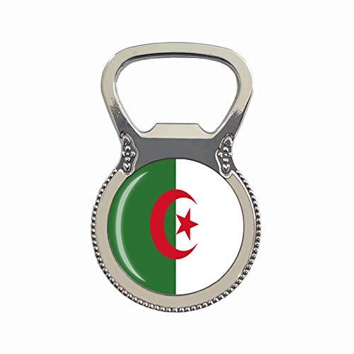 Flaschenöffner mit Algerien-Flagge, Kühlschrankmagnet, Metall, Glas, Kristall, Reise-Souvenir, Geschenk, Heimdekoration