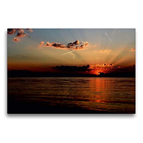 CALVENDO Premium Textil-Leinwand 75 x 50 cm Quer-Format Letzes Tageslicht, Leinwanddruck von BS Fotoart