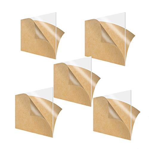 LZYCYF - Pannello in plexiglas Trasparente in plastica Trasparente, Resistente per Porte e segnaletica, 200 * 250 * 1mm(5pcs)
