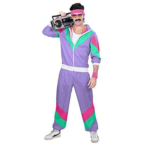 Widmann 98793 - Erwachsenenkostüm, 80er Jahre Trainingsanzug, Jacke und Hose, angenehmer Tragekomfort, Assi Anzug, Proll Anzug, Retro Style, verschiedene Größen, Bad Taste Party, 80ties, Karneval