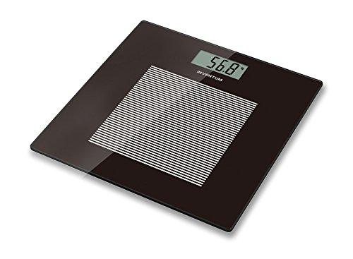 Inventum personenweegschaal digitale weegschaal zwart glas 180 kg PW405ZW