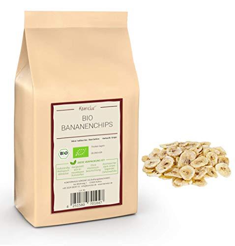 Bio Bananenchips geröstet, 1 kg mit Bio Rohrzucker gesüßt aus kbA