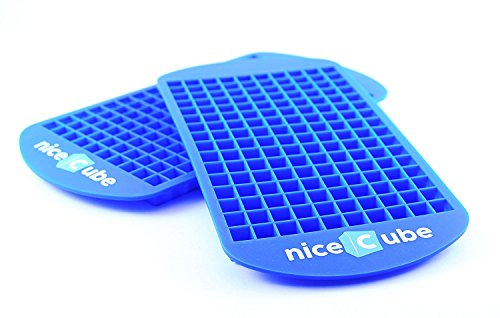 niceCube Mini Ice Cube Trays - Great for Small Crushed Ice - Silicone Ice Tray Molds, 2 Pack