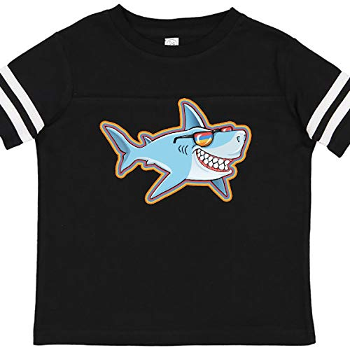 inktastic Super Suave Shark Toddler T-Shirt 4T Football Black and White 363d3