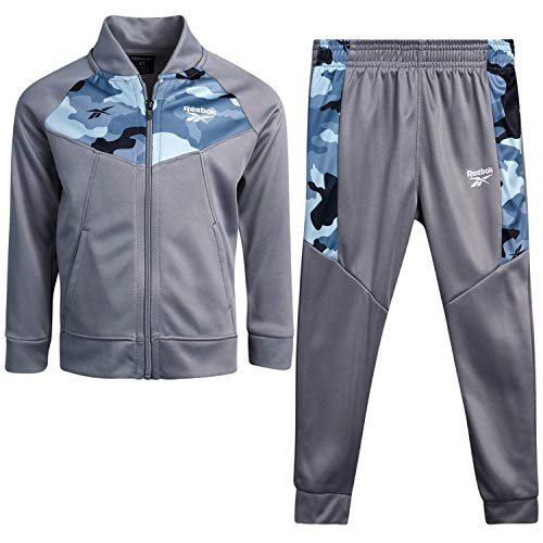 Reebok Baby Boys? Tracksuit Set with Jacket and Joggers (Infant/Toddler), Size 4T, Shark-Camo
