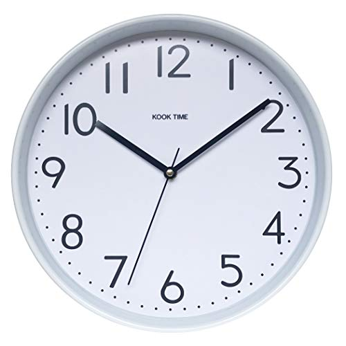 KOOK TIME PRODUCTS Reloj Pared Redondo Blanco, 30 x 30 x 5