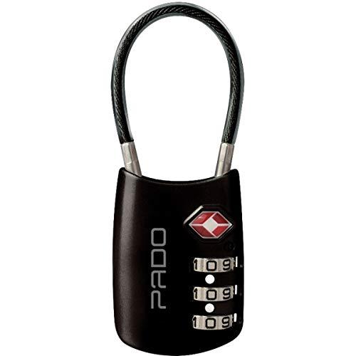 Cadeado Segredo Executive 3 segredos Haste Flexivel Preta - 01 Unidade, Pado, 52018284, Multicor