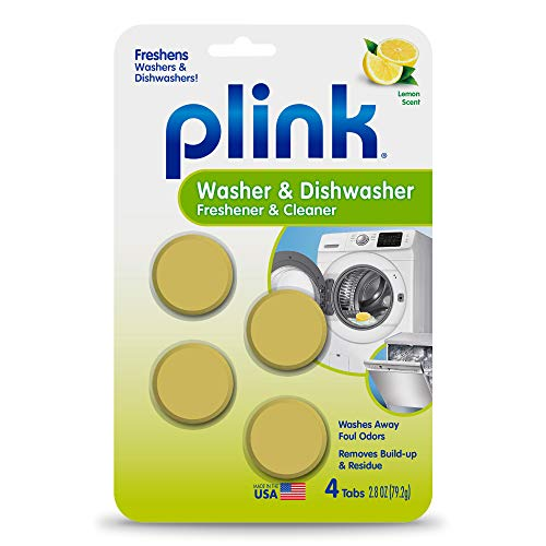 Plink-9024 Summit Brands Washer and Dishwasher Freshener Cleaner, 4 Tabs, 4-Count, Yellow, 4 Piece