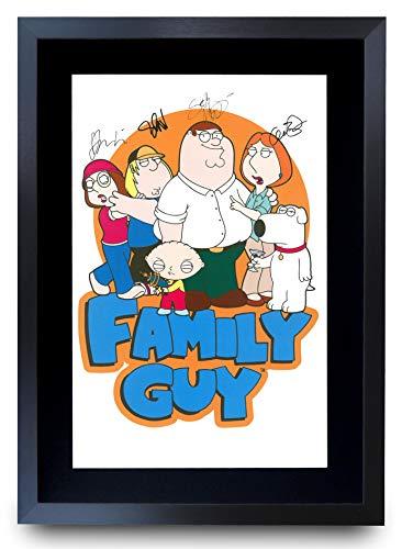 HWC Trading A3 FR Family Guy Seth MacFarlane Gifts gedrucktes Autogramm für TV Fanartikel-Fans – A3 gerahmt