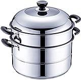 GPWDSN Cocina de Acero Inoxidable Cocina a Vapor Cuscús Inducción de Vapor, Acero Inoxidable 304...