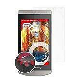 atFolix Schutzfolie kompatibel mit BlackBerry Porsche Design P9982 Folie, entspiegelnde & Flexible FX Bildschirmschutzfolie (3X)
