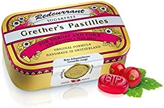 Grether's Pastilles Sugar Free Formula for Dry Mouth and Sore Throat Relief Vitamin C, Redcurrant, 3.75 oz....