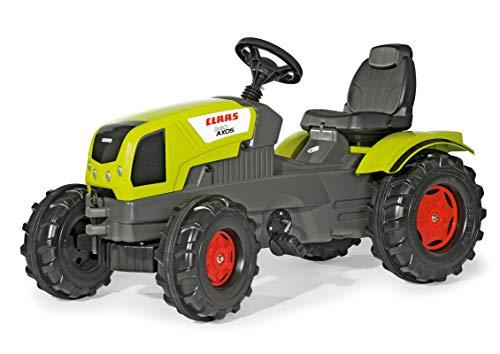 Rolly Toys Traktor / rollyFarmtrac Claas Axos 340 (für Kinder im Alter von 3 bis 8 Jahre, verstellbarer Sitz, Flüsterlaufreifen, Front- und Heckkupplung) 601042