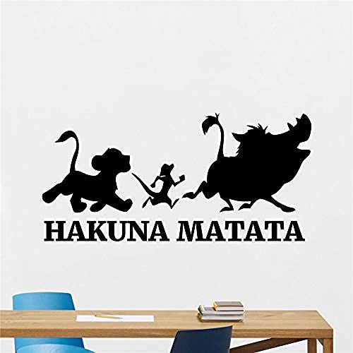 Sticker Mural Hakuna Matata Roi Lion Dessins Animés Enfants Chambre Chambre Décor 39 * 79 cm