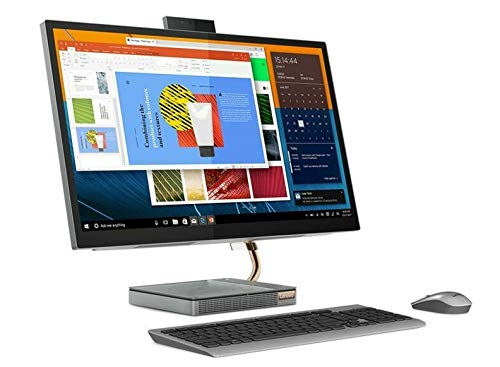 Lenovo 27' QHD Touchscreen All-in-One Ideacentre 5 PC with Intel 6 Core i5-10400T Processor up to 3.6 GHz, 12GB DDR4 RAM, 256GB PCIe SSD Plus 1TB HDD, and Windows 10