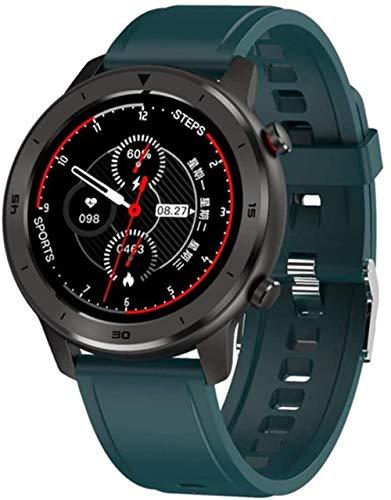 Reloj Inteligente Full Touch Redondo Reloj Inteligente Hombres Retro Negocios IP68 Reloj Deportivo para Hombres Control Bluetooth Salud Tracker-G