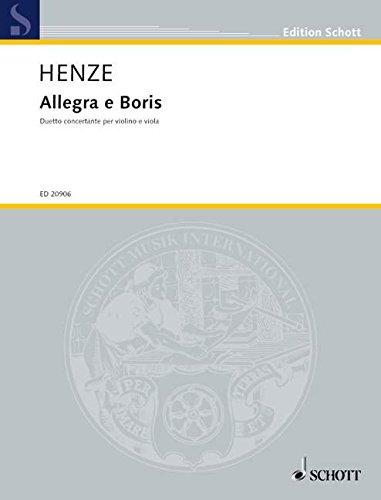 Allegra e Boris: Duetto concertante per violino e viola. Violine und Viola. Spielpartitur. (Edition Schott)