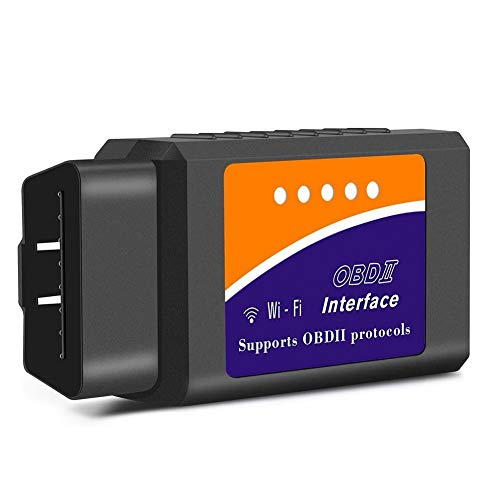 Friencity Wireless WiFi OBD II OBD2 Scanner Adapter, Auto Diagnostic Code Reader & Scan Tool for iOS, Android and Windows, Read & Clear Car Check Engine Light for Year 1996 and Newer Vehicles