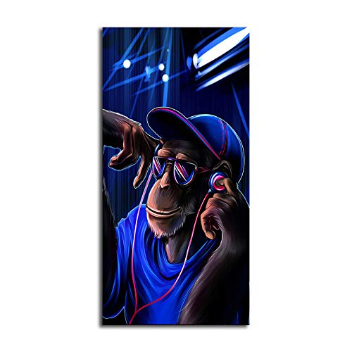 N / A Monkey Poster Music Orangutan Animal Canvas Painting Picture Living Room Decoration Painting Poster Painting Frameless 70x140cm
