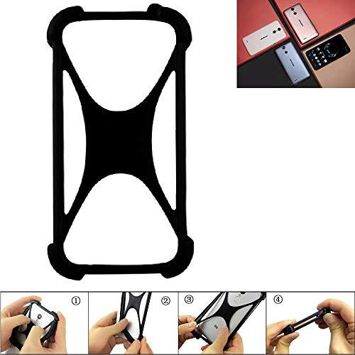 K-S-Trade® Handyhülle Für Ulefone Vienna Schutz Hülle Silikon Bumper Cover Case Silikoncase TPU Softcase Schutzhülle Smartphone Stoßschutz, Schwarz (1x),