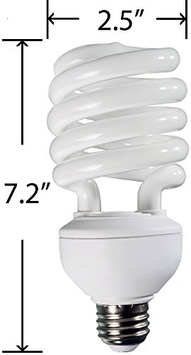 Hydrofarm Agrobrite FLC32D Compact Fluorescent Spiral Grow Lamp, 32 Watt, 6400K