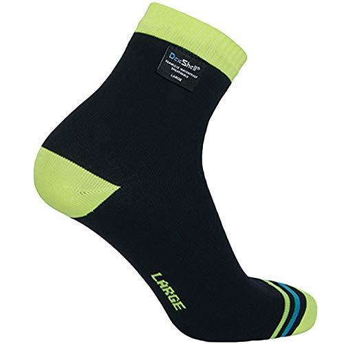 DexShell Ultralite Waterproof Breathable Biking Socks - Black/Hi-Vis Yellow - L