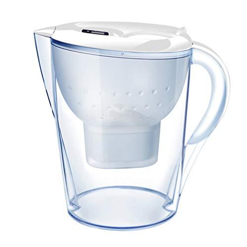 Kstyhome Jarra con Filtro de Agua de 3.5L con indicador electrónico 1 Filtro Sistema de filtración de 4 etapas Reduce el Cloro y los Metales Pesados Jarras con Filtro de Agua para Agua Potable