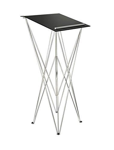Spider Pult – Stehpult faltbar, leicht und stabil – Schreibpult mobil in verschiedenen Höhen und Farben - Aluminium und Acryl - Rednerpult (schwarz, Höhe 115 cm)