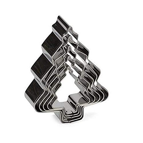 Patisse Christmas Tree Cookie Cutter set made of stainless steel, Set of 5