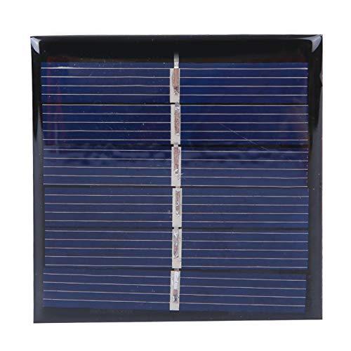 Panel Solar, Yevenr 4Pcs Módulo Solar Cargador de Panel Solar Panel Solar portátil Cargador Solar Fuente de alimentación al Aire Libre