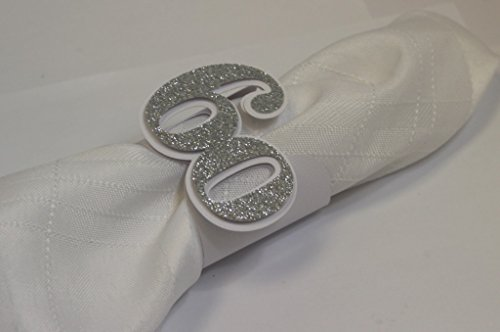 All About Details Silver 60 Napkin Holders, 12pcs, 2 x 7