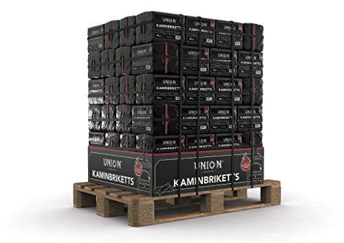 250-960 kg Kohle Briketts im 10 kg im Folienpack TOP Gluthalter Kamin Ofen Brikett Heizbriketts 960kg Palette Union Briketts (960)