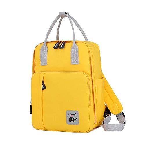 MYWILON - Mochila Cambiador para bebé y mamá – Gran Capacidad – Bolsa de pañales multifunción Impermeable – Bolsa de Viaje con Compartimento para Ordenador portátil y Logotipo Reflectante (Yellow)