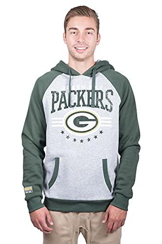 Ultra Game NFL Green Bay Packers Mens Standard Fleece Hoodie Pullover Sweatshirt University, Team Color, Medium