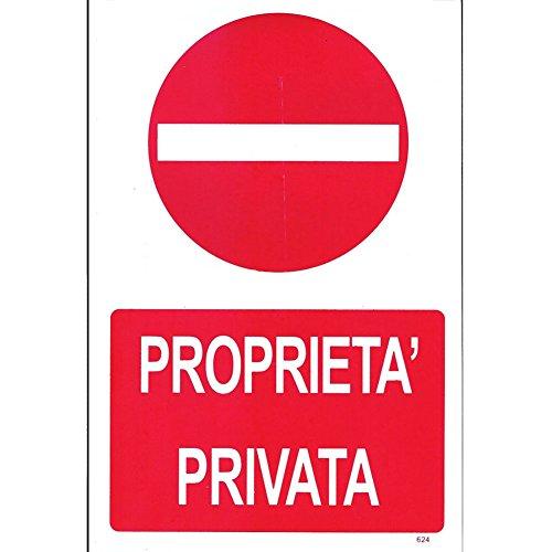 Cartello Segnaletico - Proprietà Privata - 30cm x 20cm