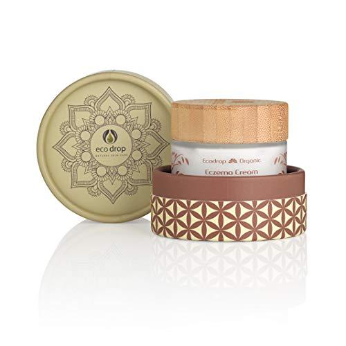 Ecodrop - Bio Ekzem Creme | Tägliche, nicht fettende Gesichtsbehandlung Creme für Frauen & Männer | 100% natürlichen Inhaltsstoffen | Um Akne zu lindern | Ekzemhilfe | Vegan | Öko-Verpackung, EINWEG