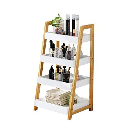 Mlzaq Abstellflächen Leiter Bücherregal Industrieregal Regal mit Metallrahmen for Wohnzimmer/Schlafzimmer/Büro