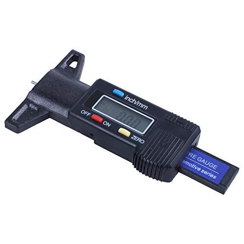 SODIAL(R) Digital Tiefenmesser Messchieber Profiltiefenmesser LCD Reifen Profilmesser