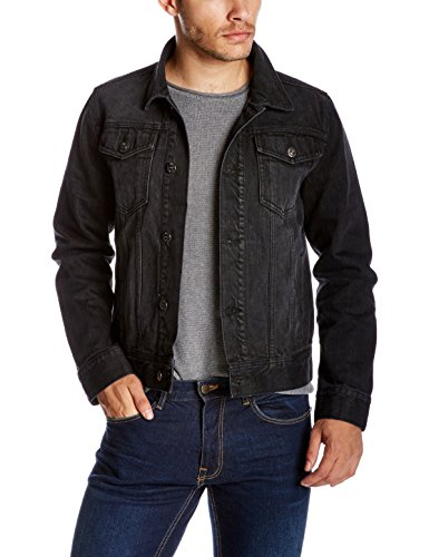 Quality Durables Co. Men's Regular Fit Jean Jacket S Black