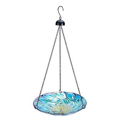 Amazon - 60% Off on 11-inch Hanging Bird Bath Glass Bird Bath Outdoor