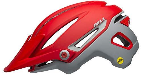 Bell Unisexe - Adulte Sixer MIPS Casque de vélo Ridgeline Mat Crimson/Grey, S