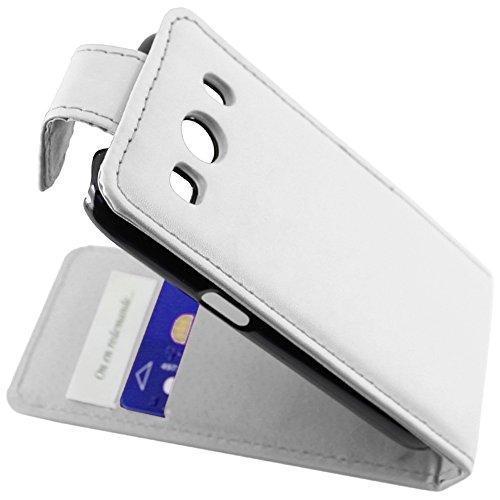 ebestStar - kompatibel mit Samsung Galaxy Ace 4 Hülle SM-G357FZ Etui mit Klappe, PU Kunstleder Handyhülle Schutzhülle Hülle Cover, Weiss [Phone: 121.4 x 62.9 x 10.8mm, 4.0'']
